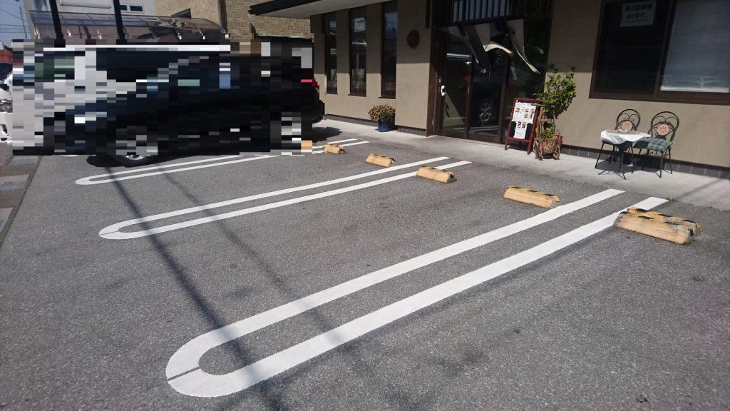 二福亭の駐車場