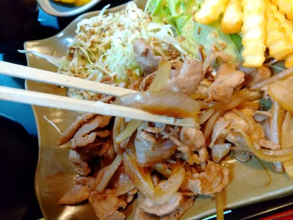 ミツワ食堂の豚の生姜焼き